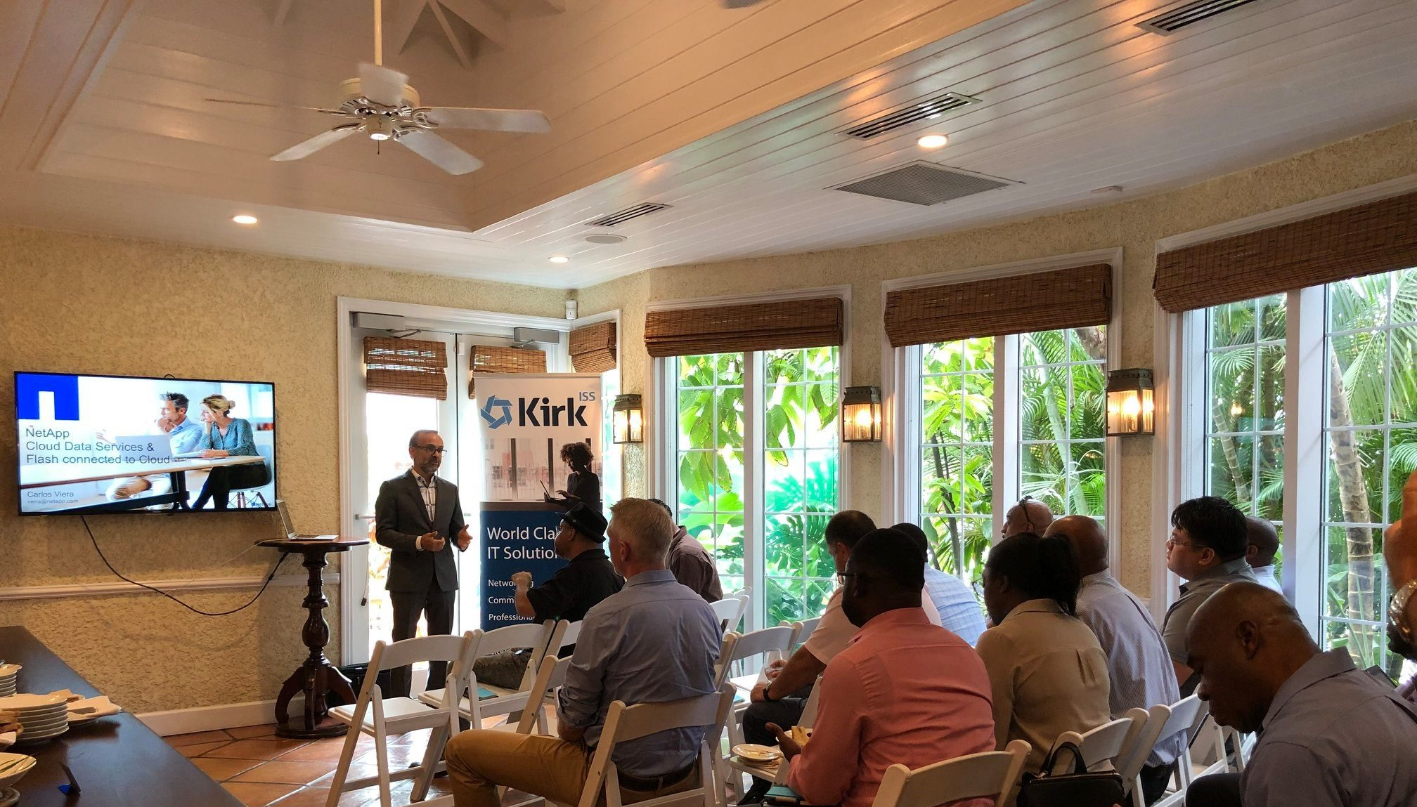 Carlos Viera of NetApp speaking at a recent Information Technology Lunch and Learn