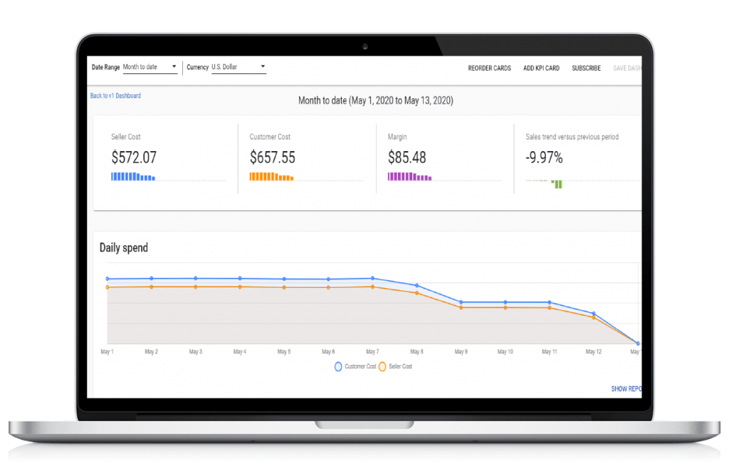 Cloud management platform intuitive dashboard